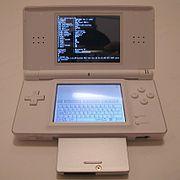 Ds lite with slot-2 device running dslinux