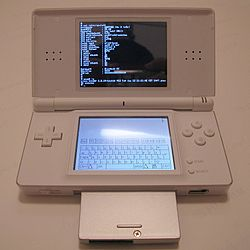Ds lite with slot-2 device running dslinux.jpg