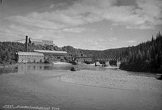 Dunderland Line former railway line in Rana, Norway