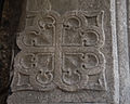 Dunmore Priory Doorway Right Jamb Upper Quatrefoil Carving 2010 09 16.jpg