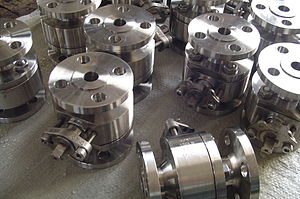 A series of duplex ball valves.