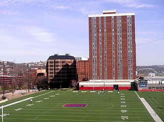 Arthur J. Rooney Athletic Field - Rooney Field as seen from Mellon Hall.