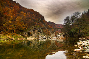 Devil's bridge in autumn