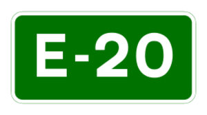 N19 road (Ireland) - Image: E 20 euroroute IE