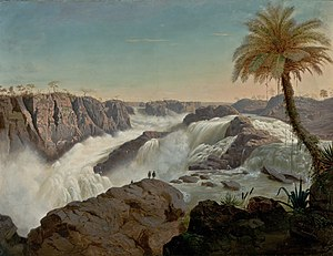 Paulo Afonso Falls - An 1850 painting of the falls