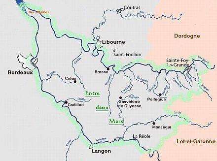 Liste des communes de l'Entre deux Mers — Wikipédia