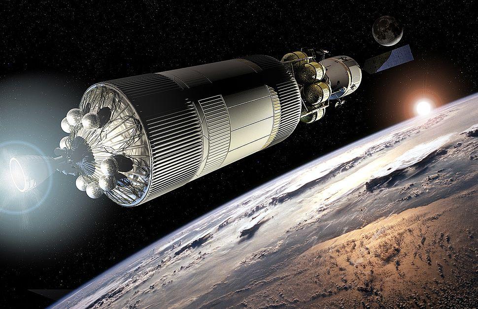 EDP and CEV leaving orbit