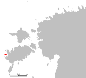 Vilsandi - Location of Vilsandi in western Estonia.