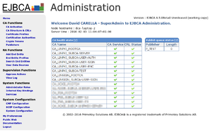 EJBCA 6.5.0 in English – Administration