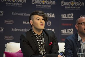 Israel in the Eurovision Song Contest 2016 - Hovi Star during a press meet and greet
