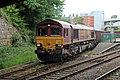 EWS Class 66, 66174, Wrexham General railway station (geograph 4025033).jpg