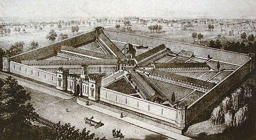 Eastern State Penitentiary aerial crop