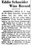 Eddie August Schneider (1911-1940) in the Fitchburg Sentinel of Fitchburg, Massachusetts on August 25, 1930.png