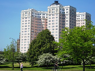 Lake Shore Drive - The Historic Edgewater Beach Apartments mark the northern end of the Drive