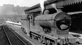 NBR K Class - Number 2494 Glen Gour at Edinburgh Waverley railway station in August 1948.