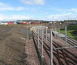 Edinburgh tram depot exit (geograph 3717741).jpg