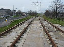 Edinburgh tramway at Saughton (geograph 3765517).jpg