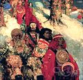 Edward Atkinson Hornel - Druids Bringing In The Mistletoe.jpg