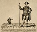 Edward Bamford, a giant, and John Coan, a dwarf. Engraving b Wellcome V0007349.jpg