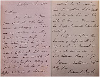 The Last Men of the Revolution - Letter in Front Flyleaves of First Edition