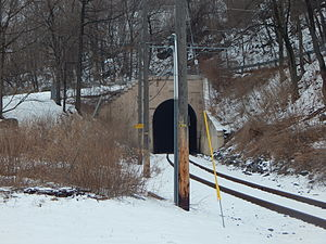 Lackawanna and Wyoming Valley Railroad - The Edward S. Miller (Crown Avenue) Tunnel in March 2015