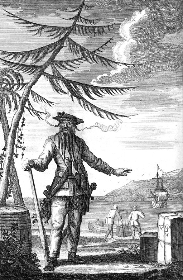 File:Edward Teach Commonly Call'd Black Beard (bw).jpg