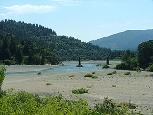 Eel River (California) - The river near Dyerville, California