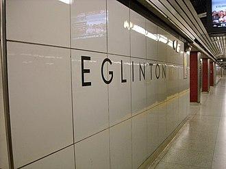 Toronto Subway (typeface) - Image: Eglinton TTC