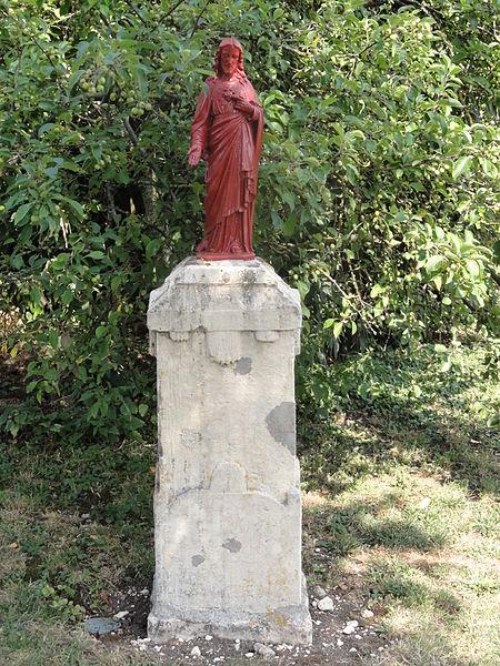 Eix (Meuse) statue Sacré Coeur