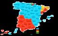 Elecciones generales españolas de 1996 - distribución del voto.png