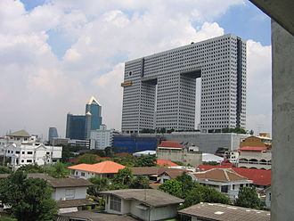 Elephant Building - Elephant Building. In the back is SCB Park Plaza.