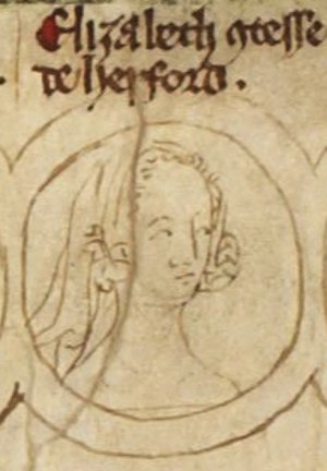 Elizabeth of Rhuddlan - Image of Elizabeth and her brother on the family tree