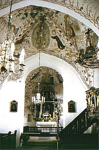 Elmelunde Church - Image: Elmelunde kirkeskib