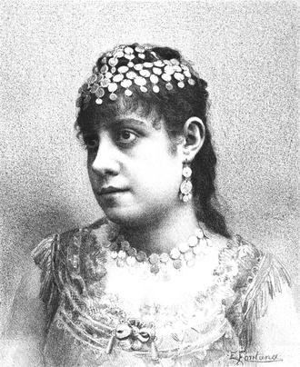 Elvira Colonnese - Elvira Colonnese, from an 1887 publication.