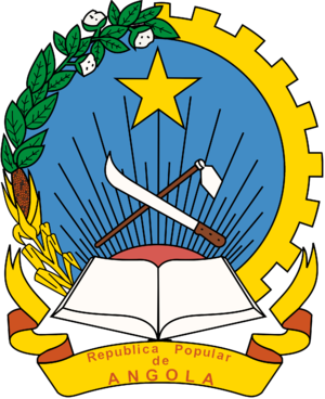 People's Republic of Angola - Image: Emblem of the People's Republic of Angola (1975 1992)