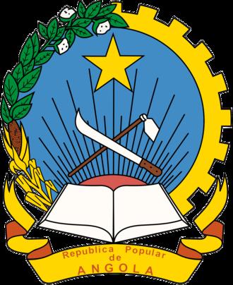 People's Republic of Angola - Image: Emblem of the People's Republic of Angola (1975 1992)
