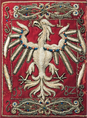 Embroidered Polish eagle by Anna Jagiellon