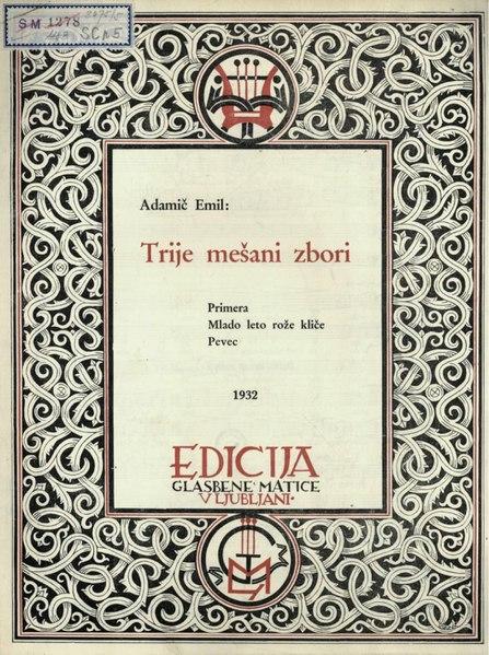 File:Emil Adamič - Trije mešani zbori.pdf