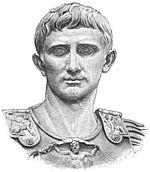 Målning från 1900-talet på Augustus.