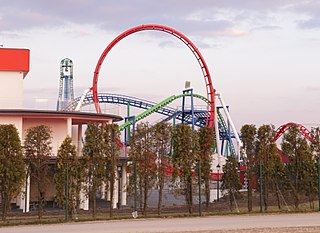 steel launched roller coaster in Energylandia, Poland