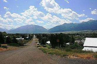 Enterprise, Oregon - Enterprise with the Wallowa Mountains in the distance