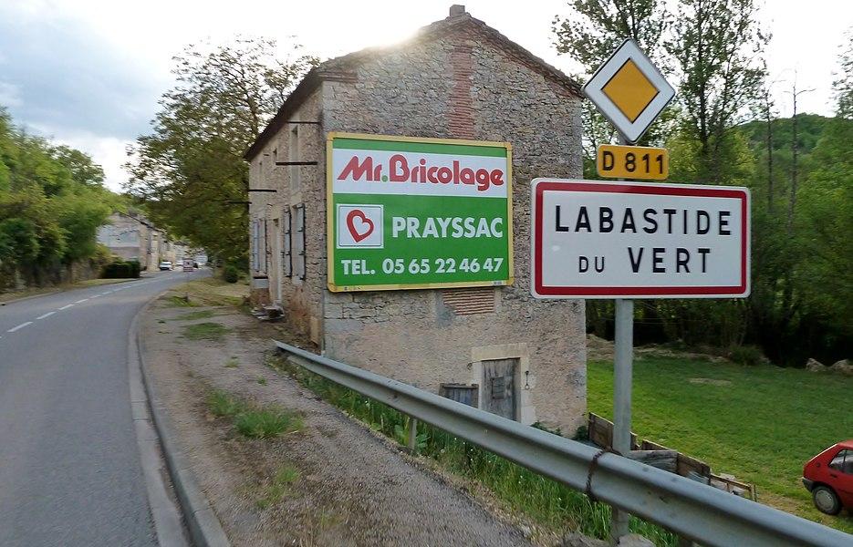 Entrée dans Labastide-du-Vert