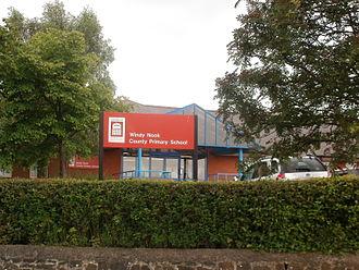 Windy Nook - Entrance to Windy Nook Primary School