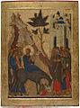 Entry into Jerusalem of Kirillo-Belozersky iconostasis (15th century, Russia).jpg