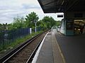 Epsom station platform 4 look north.JPG