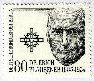 Erich Klausener - Image: Erich Klausener Deutsche Bundespost Berlin 1984