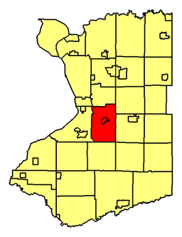 Location of Orchard Park in Erie County