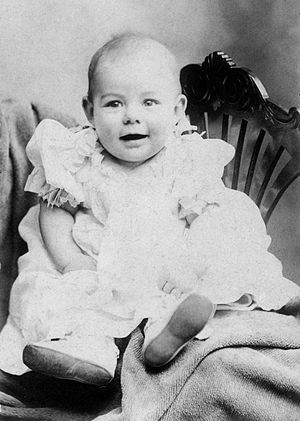 Photograph of Ernest Hemingway as a baby.