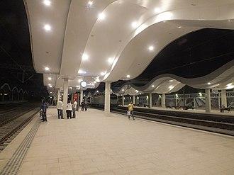 Eskişehir railway station - Image: Eskisehir station night