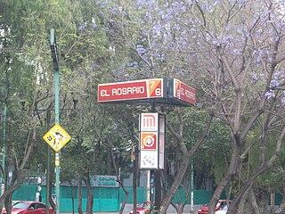 Metro El Rosario metro station in Mexico City